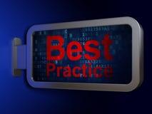 Studio del concetto: Best practice sul fondo del tabellone per le affissioni Illustrazione di Stock