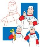Studio del fumetto di un cuoco unico Fotografie Stock Libere da Diritti