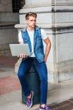 Studio del giovane, lavorante a New York Fotografia Stock Libera da Diritti