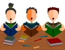 Studio del gruppo illustrazione di stock