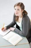 Studio dell'allievo femminile Fotografia Stock Libera da Diritti