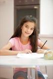 Studio della bambina Immagine Stock