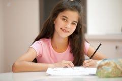 Studio della bambina Immagine Stock Libera da Diritti