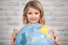 Studio della bambina che impara concetto di conoscenza di istruzione Fotografia Stock
