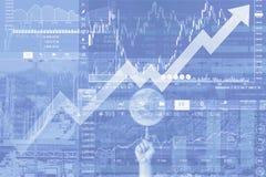 Studio della congiuntura globale e fondo di analisi immagini stock