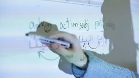 Studio della lingua araba nell'aula video d archivio