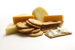 Studio della raccolta del cracker e del formaggio Fotografia Stock