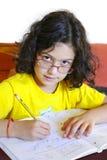 Studio della ragazza Immagini Stock Libere da Diritti