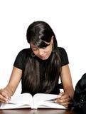 Studio della ragazza dell'afroamericano Immagine Stock