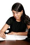 Studio della ragazza dell'afroamericano Immagini Stock Libere da Diritti