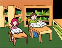 Studio delle biblioteche Immagine Stock