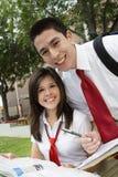 Studio delle coppie della High School Immagini Stock
