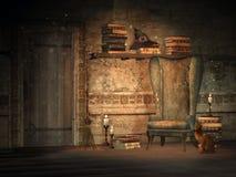 Studio di fantasia con i libri magici royalty illustrazione gratis