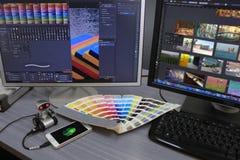 Studio di progettazione di Digital Fotografia Stock