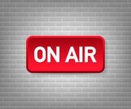 Studio di radiodiffusione sulla luce dell'aria Radio in onda e televisione del segno Illustrazione di vettore illustrazione di stock