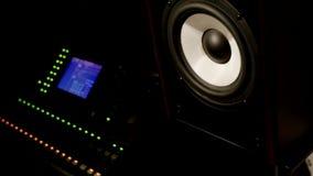 Studio di registrazione dell'altoparlante di musica di vibrazione sonora immagini stock
