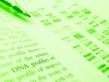 Studio di scienza legale - profilo del DNA Fotografia Stock