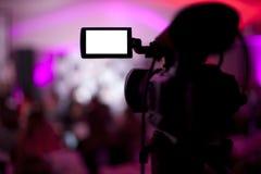 Studio di trasmissione televisiva Immagini Stock Libere da Diritti