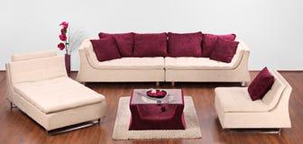 Studio die van een modern meubilair is ontsproten Royalty-vrije Stock Afbeelding