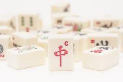 Studio die van stukken Mahjong is ontsproten Stock Fotografie