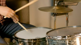 Studio Drummer Session stock video footage