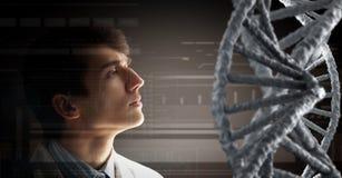 Studio e ricerca di biochimica Media misti Immagine Stock