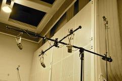 Studio Equipment; Abbey Road Studios, London. Omnidirectional miking with vintage Microphones; Studio 2, Abbey Road Studios stock image