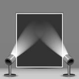 Studio et projecteurs de photo Photo stock
