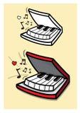 Studio för klassiker för pianobokmelodi Stock Illustrationer