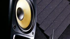 Studio för solid inspelning för musikvibrationshögtalare stock video
