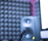 Studio för solid inspelning mic Royaltyfri Fotografi