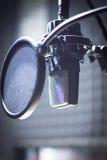 Studio för solid inspelning mic Fotografering för Bildbyråer