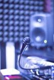 Studio för solid inspelning mic Royaltyfri Foto