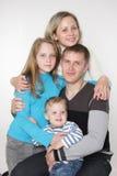 Studio family portrait Stock Photos
