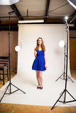 Studio Fashion Portrait Royalty Free Stock Images