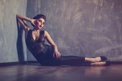 Studio fashion portrait of young sexy woman Stock Photo
