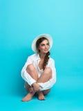 Studio, fashion portrait, young woman Stock Photo