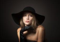 Studio female portrait royalty free stock image