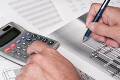 Studio finanziario Immagini Stock