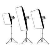 Studio flash Stock Photo