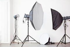 Studio flash lights Stock Photos
