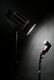 Studio flash and one photo camera Royalty Free Stock Photos