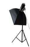 Studio flash with soft-box Stock Image