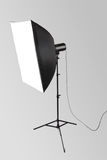 Studio flash with softbox Royalty Free Stock Photo