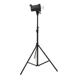 Studio flash on a stand over isolated white background Royalty Free Stock Photography
