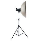Studio flash on a stand over isolated white background Stock Images
