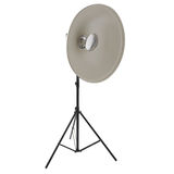 Studio flash on a stand over isolated white background Royalty Free Stock Images
