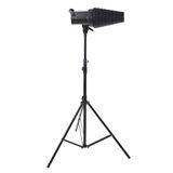 Studio flash on a stand over isolated white background Stock Photo