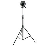 Studio flash on a stand over isolated white background Royalty Free Stock Image