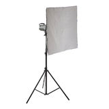 Studio flash on a stand over isolated white background Royalty Free Stock Photos